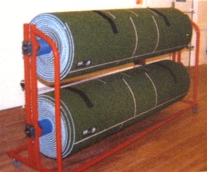 Manual short mat bowls mat winder